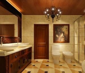 欧式别墅卫生间装修效果图欣赏