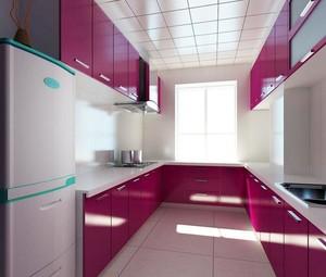现代小户型室内厨房设计装修效果图