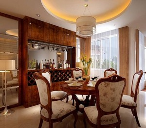 100平米现代室内酒柜设计装修效果图欣赏