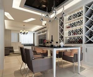 小户型现代餐厅酒柜设计装修效果图