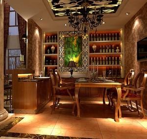 2016别墅欧式风格酒柜设计装修效果图欣赏