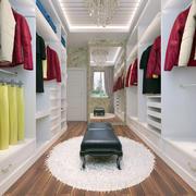 三室一厅现代美式风格室内衣帽间装修效果图