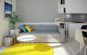 60平米小户型都市风格轻松时尚公寓装修效果图