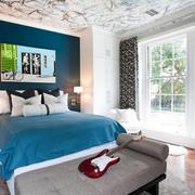 地中海风格大户型室内卧室飘窗装修效果图