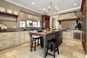 美式乡村风格别墅型精致室厨房装修效果图
