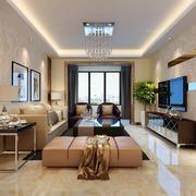 大户型现代简约风格时尚创意室内客厅装修效果图