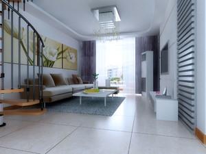 复式小楼现代简约风格客厅装修效果图赏析