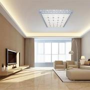 大户型都市简约风格精致客厅窗帘设计效果图