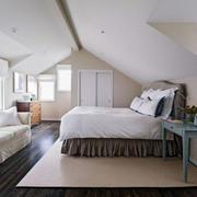 别墅型简约风格阁楼室内卧室装修效果图