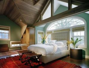200平米别墅型小清新风格阁楼卧室装修效果图