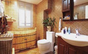 100㎡怀旧经典美式风格卫生间装修效果图
