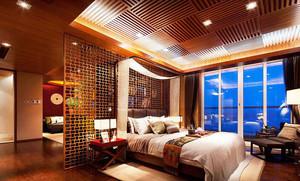 80㎡经典时尚中式风格卧室装修效果图