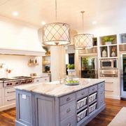 欧式风格大户型室内开放式厨房装修效果图