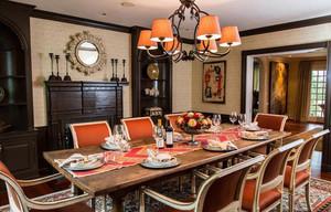 大户型舒适美式风格餐厅装修效果图