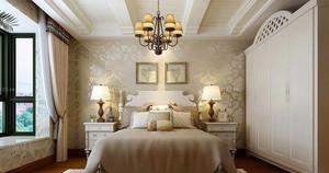 别墅典雅简欧风格卧室装修效果图