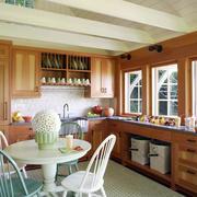 别墅型美式乡村风格室内厨房橱柜装修效果图