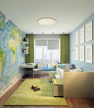 120平米都市简约风格儿童房整体设计效果图