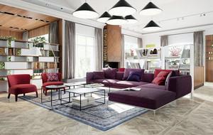 90平米现代风格精致时尚公寓装修效果图