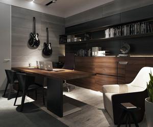 2016年全新款冷色调精致单身公寓装修效果图