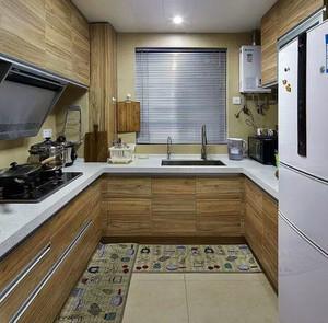 小户型U型美式乡村风格厨房装修效果图