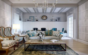 地中海风格自然简约时尚三居室公寓装修效果图赏析