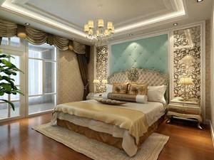 简欧风格别墅卧室装修效果图