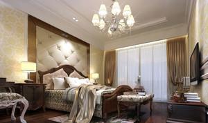 大户型欧式风格精致室内卧室背景墙装修效果图