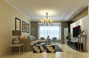 90平米简约风格温馨舒适室内客厅吊顶装修效果图