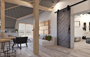 2016年北欧风格大户型阁楼公寓装修效果图赏析