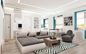 80平米都市简约小清新单身公寓装修效果图赏析