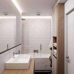 65平米现代风格小资们钟爱的单身公寓装修效果图