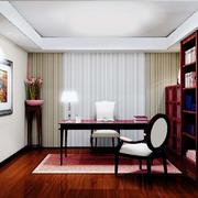 大户型新中式书房装修效果图