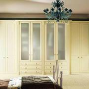 90平方米唯美纯白色简欧风格卧室衣柜装修效果图