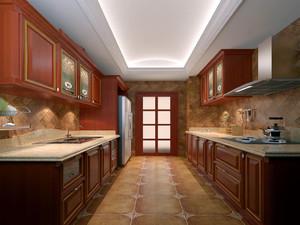 大户型美式简约风格厨房装修效果图