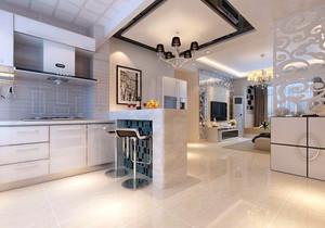大户型现代简约风格厨房吧台装修效果图