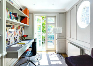 大户型现代风格时尚混搭室内创意书房装修效果图