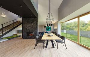 别墅型现代简约风格 餐厅创意吊灯装修效果图