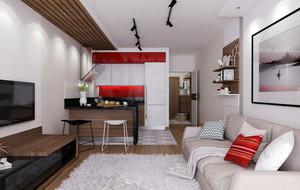 50平米时尚混搭小资们钟爱的单身公寓装修效果图赏析