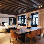 80平米东南亚风格自然舒适室内餐厅装修效果图