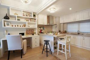 欧式风格简约80平米室内开放式厨房装修效果图