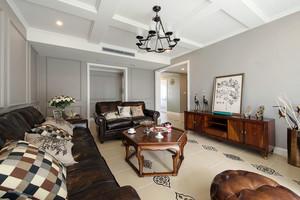 120平米美式风格时尚混搭室内客厅装修效果图