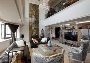 别墅精致混搭风格客厅装修效果图