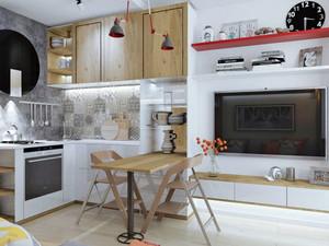 40平米北欧风格精装单身公寓装修效果图赏析
