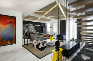 现代简约风格复式公寓装修效果图