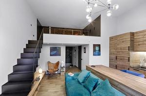 超小户型后现代loft风格客厅装修效果图