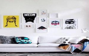 后现代风格简约时尚创意照片墙装修效果图大全