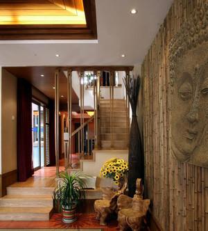 大户型东南亚风格客厅背景墙效果图