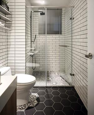 现代简约风格室内卫生间玻璃隔断装修效果图