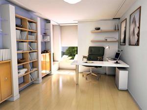 大户型时尚现代简约书房装修效果图欣赏