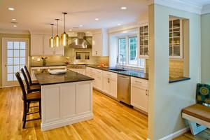大户型简欧风格开放式厨房装修效果图大全